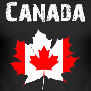 Nation-Design Canada - Slim Fit T-skjorte for menn