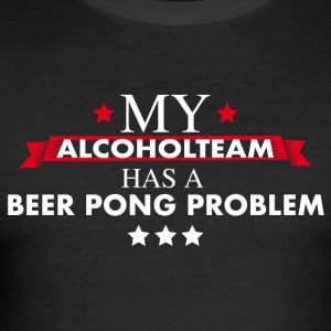 Beer Pong Alcohol Team - slim fit T-shirt