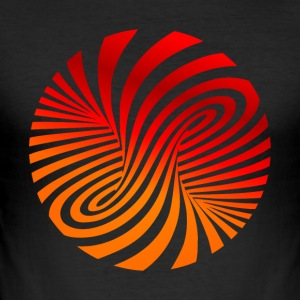 psychedelic circles lsd optical illusion column - Men's Slim Fit T-Shirt