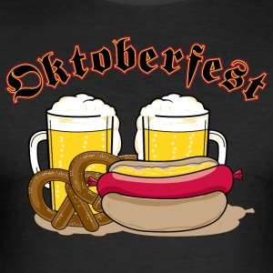 Oktoberfest Personalize with Date or Year - Men's Slim Fit T-Shirt