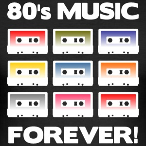 80's MUSIC FOREVER! (White) - Men's Slim Fit T-Shirt