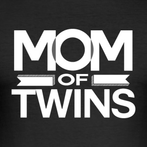 MOM OF TWINS - MOM POWER - Men's Slim Fit T-Shirt
