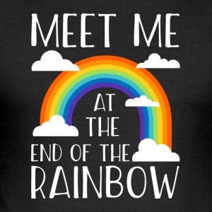 Meet me at the end of the rainbow - Männer Slim Fit T-Shirt
