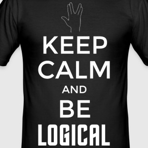 Keep Calm and be logical (hell) - Männer Slim Fit T-Shirt