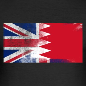 British Bahraini Bahrain Half Half UK Flag - Slim Fit T-skjorte for menn