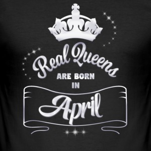 Queens April - Männer Slim Fit T-Shirt