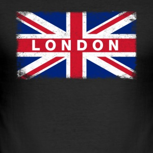 London skjorte Vintage Storbritannia Flag T-skjorte - Slim Fit T-skjorte for menn
