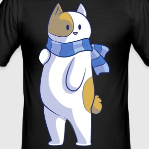 Cat with scarf - Men's Slim Fit T-Shirt