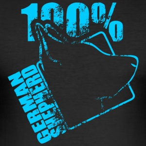 GERMAN SHEPHERD 100 - Men's Slim Fit T-Shirt