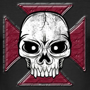 20-07 Iron Cross Skull, Skull Iron Cross - Men's Slim Fit T-Shirt