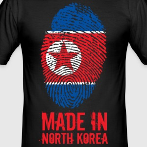 Made I Nord-Korea / Nord-Korea / 조선 민주주의 인민 공화국 - Slim Fit T-skjorte for menn