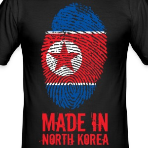 Made In North Korea / Nordkorea / 조선민주주의인민공화국 - Männer Slim Fit T-Shirt