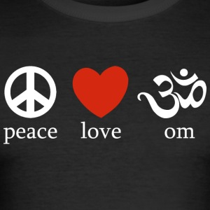 Peace Love Om - Slim Fit T-skjorte for menn