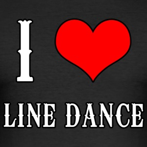I Love Line Dance - Männer Slim Fit T-Shirt
