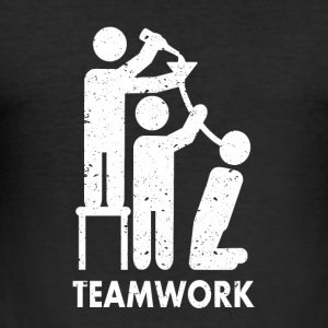 Teamwork drinking - Men's Slim Fit T-Shirt