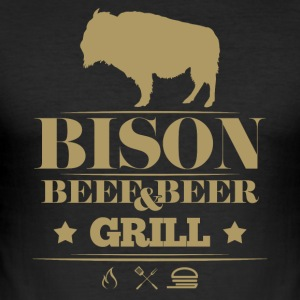 Grill · Bison · Bison grill - Men's Slim Fit T-Shirt