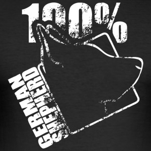 GERMAN SHEPHERD 100 - Männer Slim Fit T-Shirt