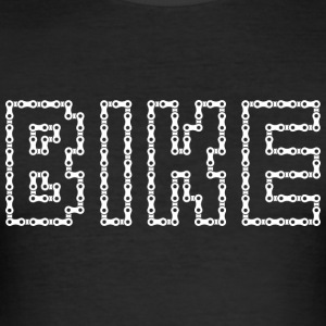 Bicycle chain bike white - Men's Slim Fit T-Shirt