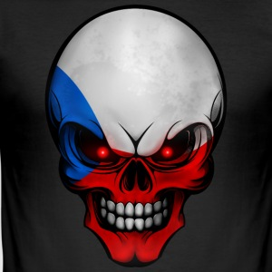 Totenkopf Czech Republic AllroundDesigns - Men's Slim Fit T-Shirt