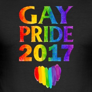 Gay Pride 2017 - Slim Fit T-skjorte for menn