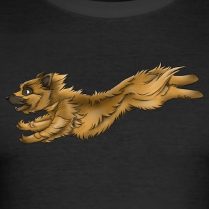 Pyreneisk gjeterhund Tan 1 - Slim Fit T-skjorte for menn