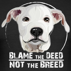 DOGO ARGENTINO blame the deed - Männer Slim Fit T-Shirt