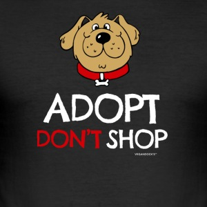 Pet adoption Clothes (Adopt Do not Shop - Dog) - Men's Slim Fit T-Shirt