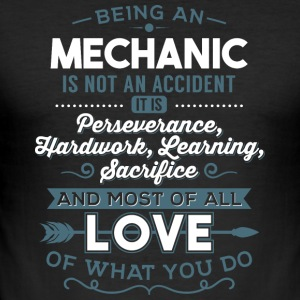 Love what you do - Mechanic - Männer Slim Fit T-Shirt