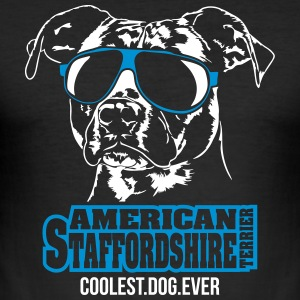 Amerikaanse Staffordshire coolste hond ooit - slim fit T-shirt