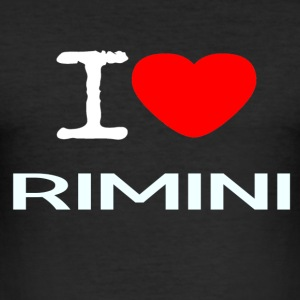 I LOVE RIMINI - Men's Slim Fit T-Shirt