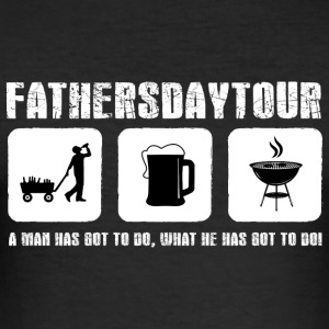 Father's Day! Fathers day! Dad! Daddy! - Men's Slim Fit T-Shirt