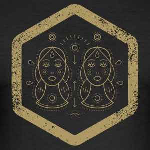 Hexagon · Zodiac Signs · Gemini · Zwillinge - Männer Slim Fit T-Shirt