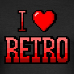 I love red RETRO - Tee shirt près du corps Homme