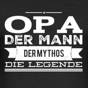 Opa die Legende! - Männer Slim Fit T-Shirt