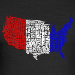 USA Land / Flag - Slim Fit T-skjorte for menn