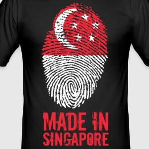 Made In Singapore / Singapore / 新加坡 共和国 - Herre Slim Fit T-Shirt