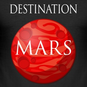 Destinasjon mars Space - Slim Fit T-skjorte for menn