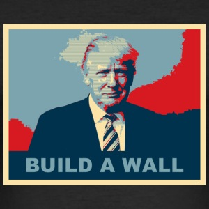 TRUMP BUILD A WALL - Men's Slim Fit T-Shirt