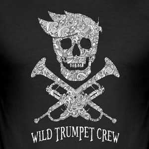 Wild Trumpet BL Crew - Men's Slim Fit T-Shirt