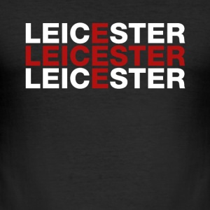 Leicester United Kingdom Flag Shirt - Leicester - Slim Fit T-shirt herr