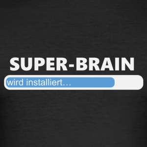 Installiere Super Brain (1201) - Männer Slim Fit T-Shirt