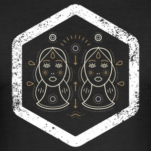Hexagon · Zodiac Signs · · Gemini tvillinger - Slim Fit T-skjorte for menn