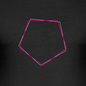 Skiftat polygon Pink - Slim Fit T-shirt herr