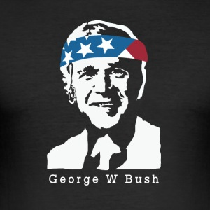 President George W. Bush American Patriot Vintage - Men's Slim Fit T-Shirt