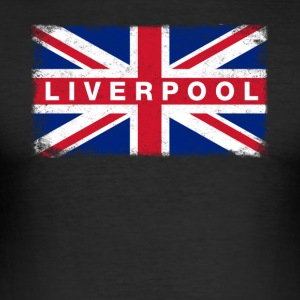 Liver Pool Shirt Vintage United Kingdom Flag - Men's Slim Fit T-Shirt