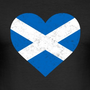 Vlag van Schotland Shirt Heart - Scottish overhemd - slim fit T-shirt
