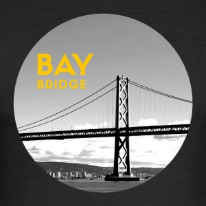 Bay Bridge - Herre Slim Fit T-Shirt