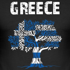 Nation-Design Greece - Men's Slim Fit T-Shirt