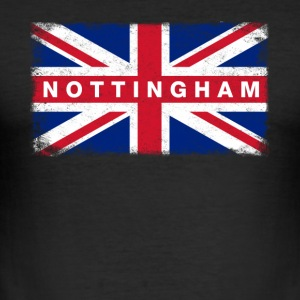 Nottingham skjorte Vintage Storbritannia Flag - Slim Fit T-skjorte for menn