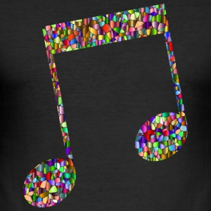 Musical note - Mosaic - Men's Slim Fit T-Shirt